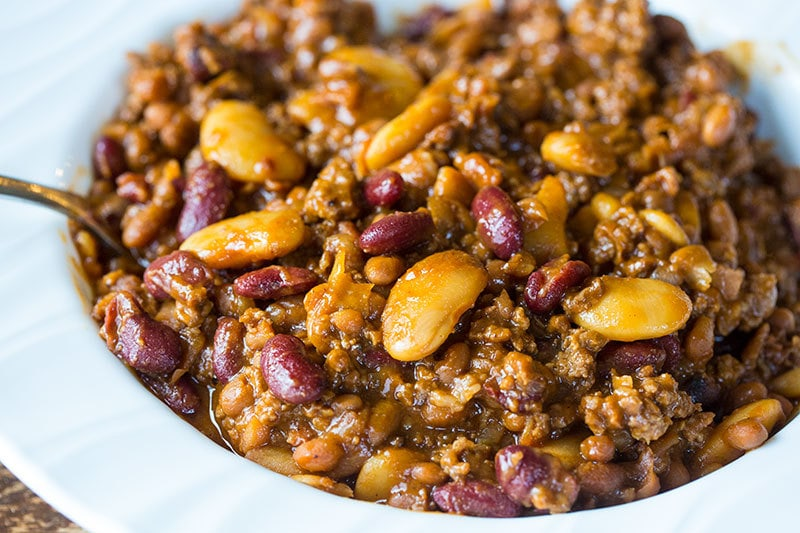 Instant Pot Calico Beans are a fabulous new twist on the classic ground beef and beans dish! Now you can cook up calico beans lickety split in your pressure cooker!