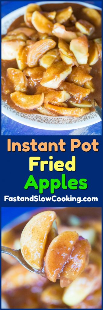 How to make Copycat Cracker Barrel Fried Apples in your Instant Pot!! #instantpot #pressurecooking #apples #dessert