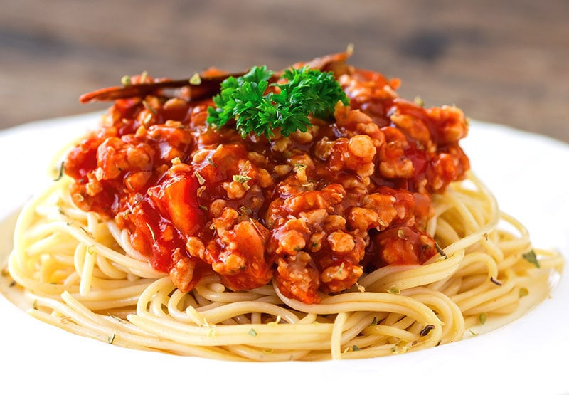 Meat Lover's Rejoice With This Meat-Lover's Slow Cooker Spaghetti Sauce!