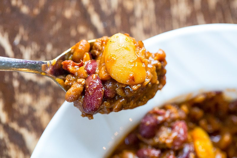 Crockpot Calico Beans are a fabulous way to cook up the classic ground beef and beans dish! Now you can cook up calico beans all day, low and slow and have a delicious dinner when you get home from work!