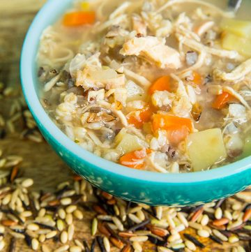 Instant Pot Chicken & Wild Rice Soup – No Dairy